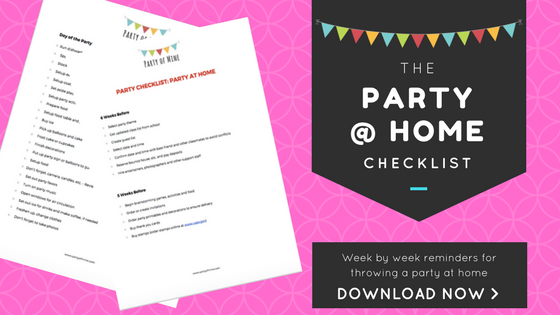 Party of Mine | Party at Home Checklist