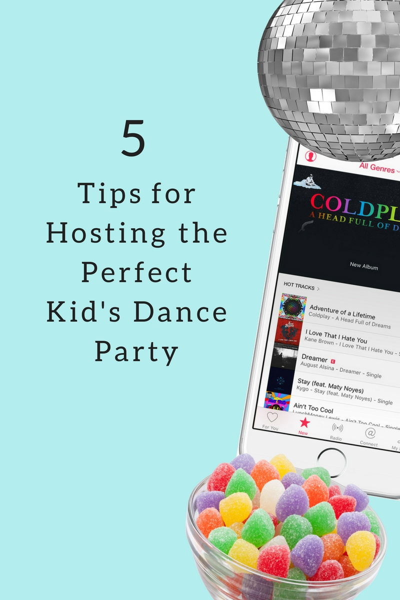 5 Tips for Hosting the Perfect Kid's Dance Party